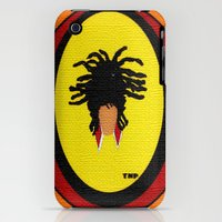 iPhone Cases featuring Freeform Loc Updo by TNP Scribble