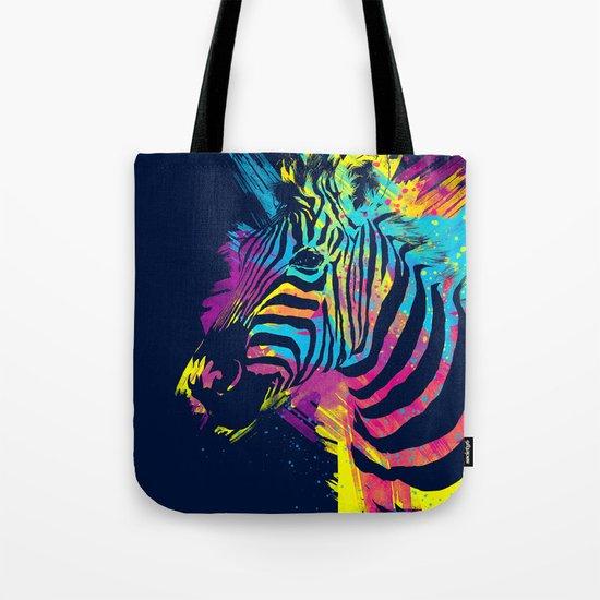 Zebra Splatters Tote Bag