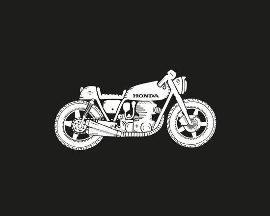 Honda CB750 - Café racer series #1 Canvas Print