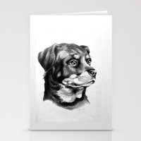 Rottweiler Devotion Stationery Cards