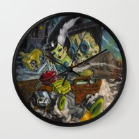Monster ride. Wall Clock
