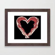 Baconlove (black background) Framed Art Print