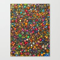 colorful dots Canvas Print