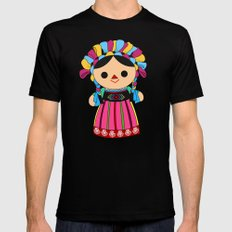 Maria 3 (Mexican Doll) Mens Fitted Tee Black SMALL