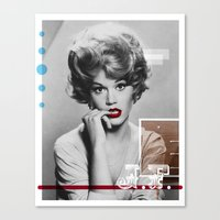 J.F. Collage Canvas Print