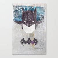 Bat Grunge Superhero Canvas Print