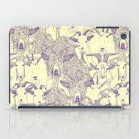 just goats purple cream iPad Case