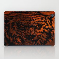 angry wolf fire iPad Case