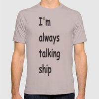 Talking Ship Mens Fitted Tee Cinder SMALL