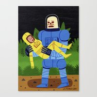 Loss in Space Canvas Print