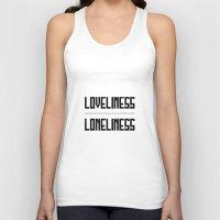 loveliness / loneliness Unisex Tank Top