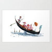 Pin up Venise Art Print
