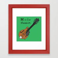M is for Mandolin Framed Art Print