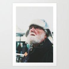 Man at the tram station, Goteborg, Sweden 2012 Art Print