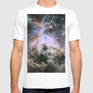 Cosmic Tarantula Nebula … Mens Fitted Tee White SMALL