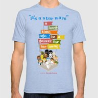 It's A Star Wars Mens Fitted Tee Tri-Blue SMALL