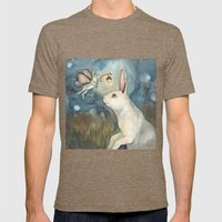 Night Bunny Fairy Mens Fitted Tee Tri-Coffee SMALL
