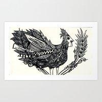 Funky Chicken Art Print