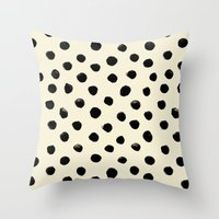 Vintage Watercolor Dots … Throw Pillow