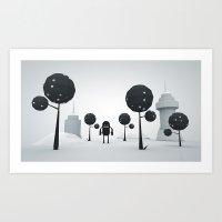 BLK FOREST Art Print