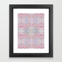 Scales And Dots Framed Art Print