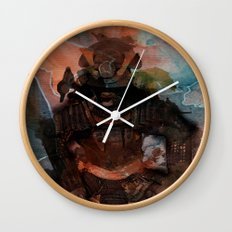 Samurai's Despair Wall Clock