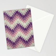 Chevron pattern_Pink Stationery Cards