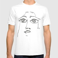 Woman gazing Mens Fitted Tee White SMALL