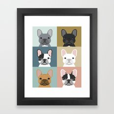 French Bulldog Portraits… Framed Art Print