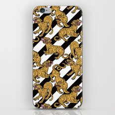 Tiger Stripes Illustration Tropical Jungle Pattern iPhone & iPod Skin