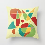 Abstract #135 Throw Pillow