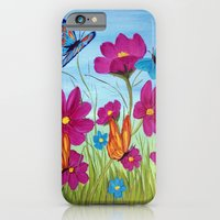 iPhone & iPod Case featuring Butterflies and flowers  by maggs326