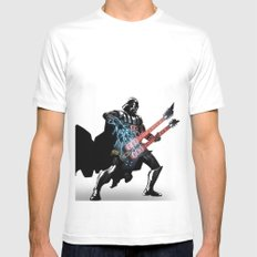 Darth Vader Force Guitar Solo Mens Fitted Tee White SMALL