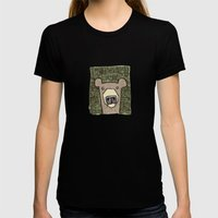 Dack The Bear Womens Fitted Tee Black SMALL