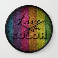 Live In Color.  Wall Clock