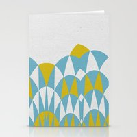 Modern Day Arches Blue A… Stationery Cards