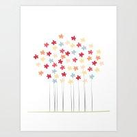 Delicate Blooms Art Print