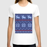 Winter Lovers Christmas Womens Fitted Tee White SMALL