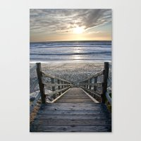 Steps to the Ocean Canvas Print