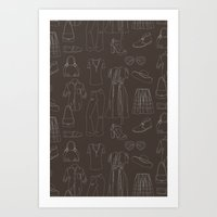 a closet full of clothes Art Print