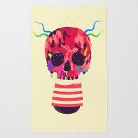 RED RED RED Cranium Rug