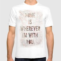 HOME (Ohio) Mens Fitted Tee White SMALL