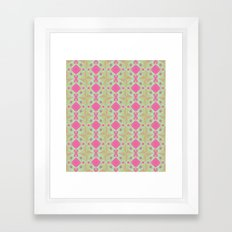 Spring Garden Pattern Framed Art Print