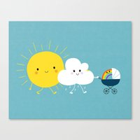 The Weather Family Canvas Print