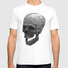 IRON SKULL Mens Fitted Tee White SMALL