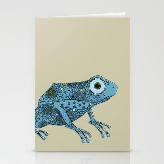 Little blue frog Stationery Card