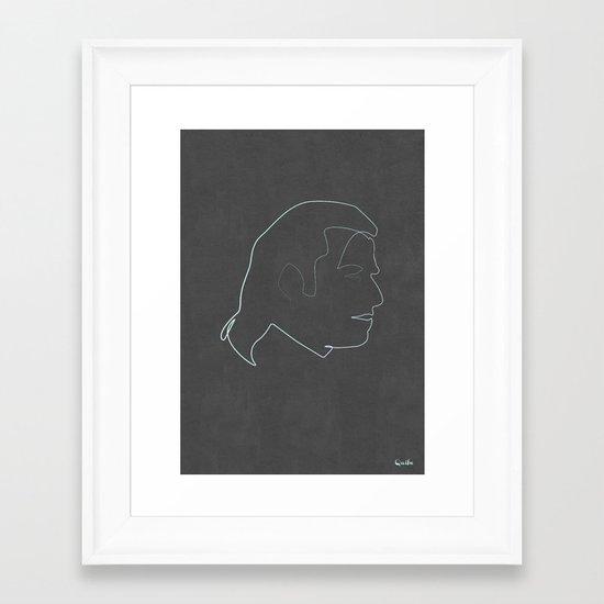 One line Vincent Vega Framed Art Print