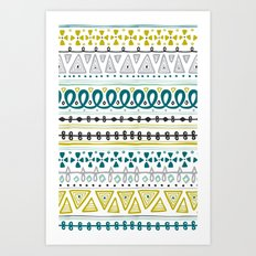 Boho Market Stripe Art Print