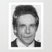 Ben Stiller Traditional Portrait Print Art Print