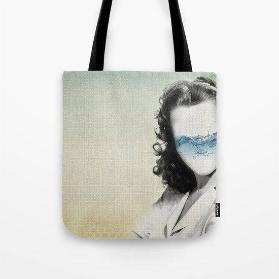the glass half full Tote Bag